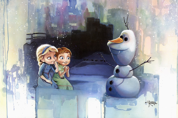 "New Disney ""FROZEN"" fine art prints…. Building a Snowman ..."